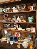 Planters, various cups, misc. small dishes, lidded candy dish, and more!