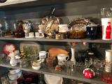 Various kitchen knick-knacks incl. vases, cups, small crocks, and much more!
