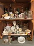 Various cups, stem glasses, coffee pot, large vases, planters, and more!