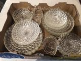 Bubble-glass set incl. dinner plates, mini-saucers, and cups (set not complete).