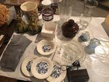 Marble-base book ends, handled ice bucket, lidded pot, dishes, vases, and more!