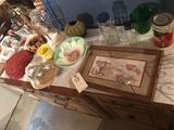 McNess tin, heart-shaped jello bowl, planters, picture frame, stainless serving tray, and more.