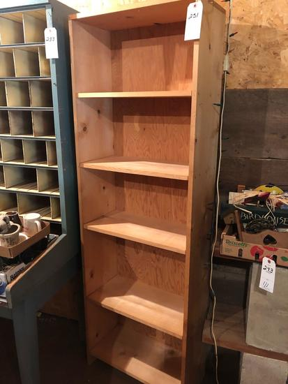 5-shelf wood cabinet (24'' W x 12'' D x 73'' H) No Shipping!