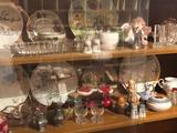 Various fancy dishes, plates, salt/pepper sets, fancy candy dish, and more!