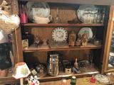 Several small dishes & glassware, set of glasses, peculator coffee pot, and more!