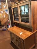 Solid oak kitchen cupboard w/bottom flour bin (41'' W x 26'' D x 66.5'' H) ~ Very Nice Condition! No
