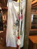 Extenda-pole w/hooks for storage, and plastic lighted Santa Clause, umbrella, mattress pad, ladies