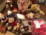 Various bears/chairs, and some Christmas decor.