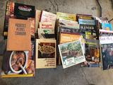 Various Quick n' Easy County Cooking and other magazines, many microwave recipe books, and more!