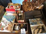 Keystone #20 meat grinder, basket w/wicker decor, electrical supplies, brass door handle, and more!