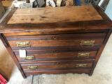 3-drawer chest (39'' W x 17'' D x 33'' H) - Nice Condition. No Shipping!