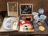 Ashton memorabilia ~ buttons, cups, pictures, and more!