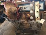 Grocery cart, sombrero, light bar, and picture frame. No Shipping!