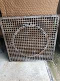 31'' Square cast iron furnace floor-register. No Shipping!