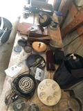 Antique strainer, coffee jar, iron horseshoes, and more!