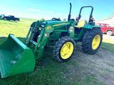 2010 John Deere 5075E MFD Open Station Tractor w/ 553 Loader