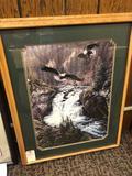 Eagle Print in Oak Frame