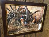 Pheasant framed print by Millette