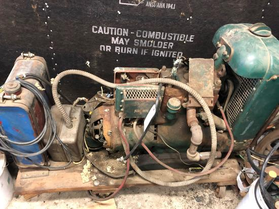 "32V/110V DC generator, will run and charge, however needs some repairs - sold ""as is"""