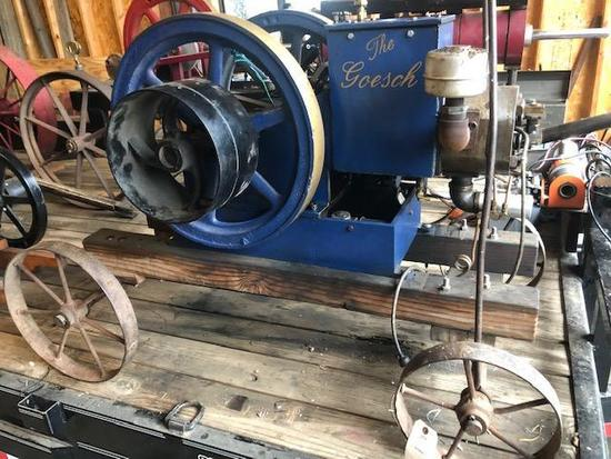 """The Goesch"" hand crafted 2004, gas engine,12hp, runs on gas, kerosene, or 85 alcohol - unique &"
