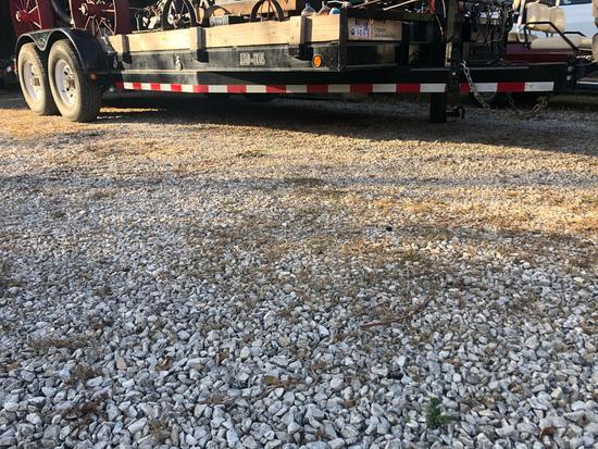 2004 Load-Trail 7' x 20' bumper hitch trailer, 14,000# gvw, 6,000# tandem axels, w/235/85R16 tires