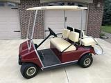 1999 Golf Car IR, ''Golf Cart'', 4 seat, gas engine, maroon color, VIN AG9938-802905, runs good!