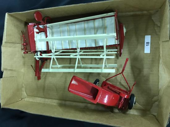 McCormick Canvas Grain Binder and Stationary Grinder