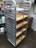 AD Products SS Food Rack on wheels