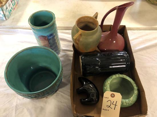 Hull pottery & misc. vases....