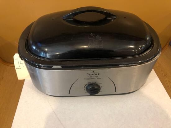 Rival 18qt electric roaster oven.