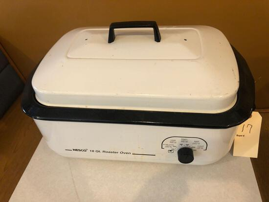 Nesco 18qt electric roaster oven.