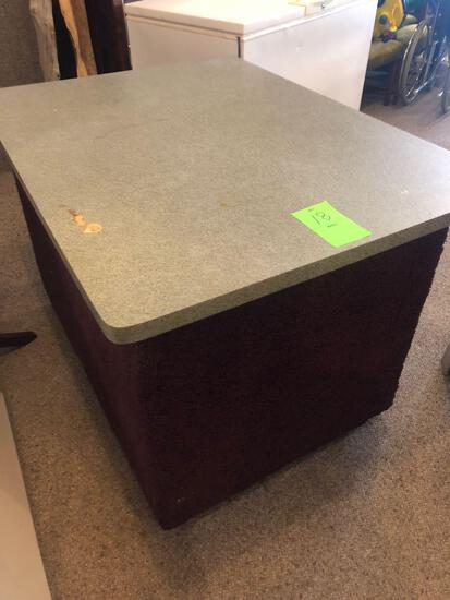 Portable Formica top bar, measures 36'' W x 49'' D x 32'' H on wheels - NO SHIPPING!