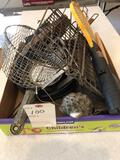 Vintage kitchen utensils, large berry spoon, pie iron and more!