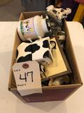 Holstein cow decor and figures