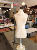 Woman dress mold w/stand and wood sign (Employees Only)