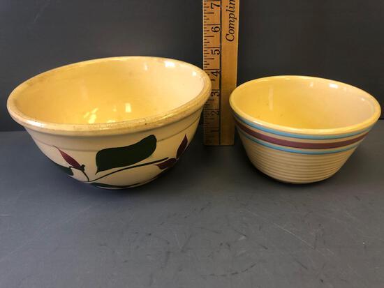 #6 Banded Bowl & 8'' Starflower Design Bowl