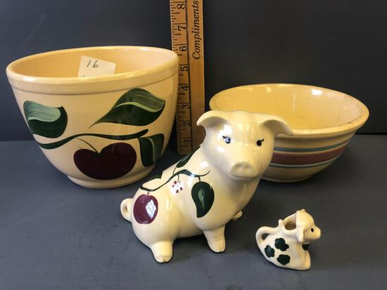 (3) Pieces of Pottery
