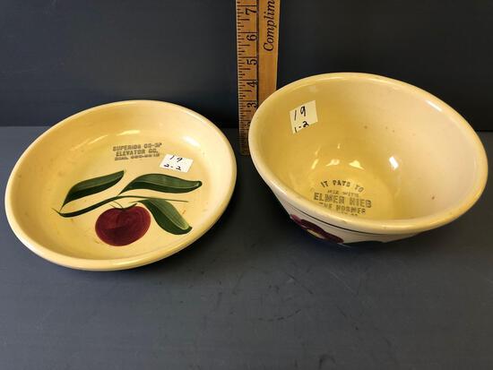#8 Watt Ware bowl & #33 Plate