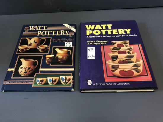 (2) Watt pottery identification & value guide books.