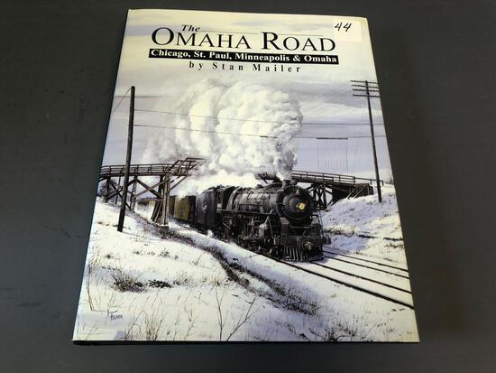 "Hardcover book of ""The Omaha Railroad"" Chicago, St. Paul, Minneapolis, & Omaha."