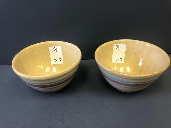 (2) Watt Ware Bowls