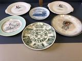 (6) various adv. centennial plates & others