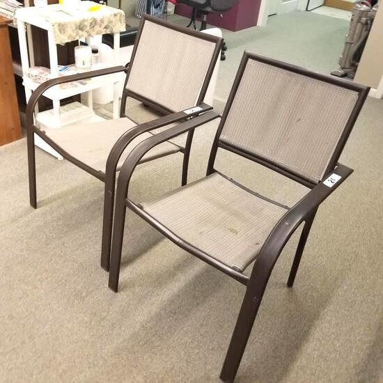 2] METAL FRAME CHAIRS