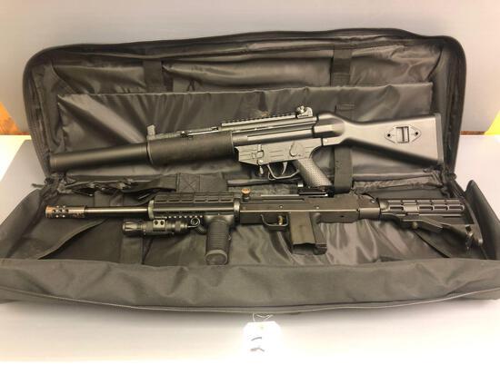 MasterPiece Arms 9mm USA gun w/flashlight & reddot scope, & GSG-522 .22LR American Tactical gun Made