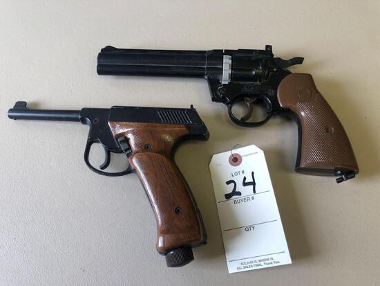 Crosman 357 177 cal. pellet revolver pistol plus pellet gun.