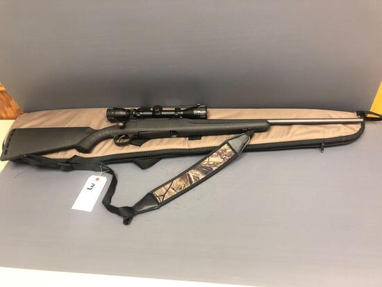 Savage Axis 30-06 cal. gun with clip & Bushnell scope. Incl. cloth case. Gun SN: H188453 - Like New!