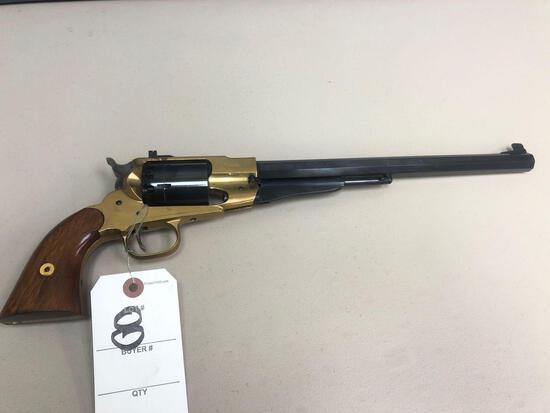 Black Powder 44 cal. 6-shot revolver pistol w/ wood stock. - Nice!