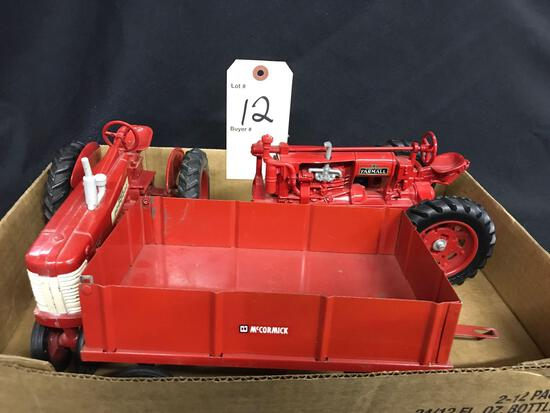 Farmall F-20 and 350 Tractors and Barge Wagon 1/16th