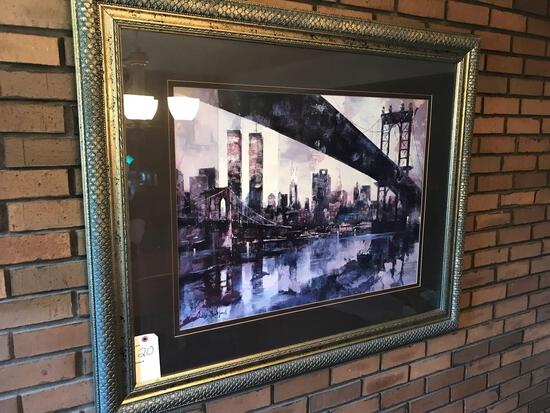 """47"""" W X 39"""" T signed, framed picture. NO SHIPPING!"""