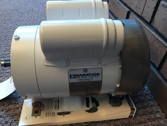 Marathon 1 HP electric motor, new